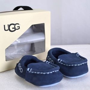 Infant UGG Sivia Navy Moccasin Slippers